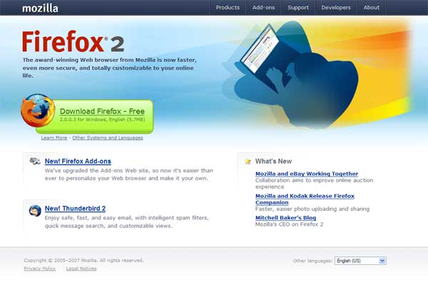 mozilla.com screenshot