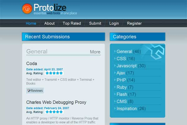 protolize.org screenshot